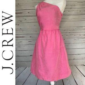 J. CREW | Bridget Silk One Shoulder Dress Sz 10